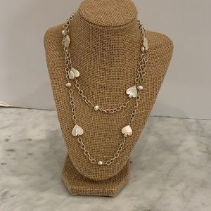 Mother of Pearl Sterling Silver Station Necklace